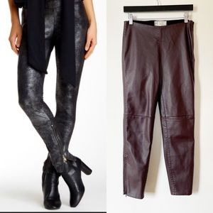 Free People Mosshart Faux Leather Moto Pants
